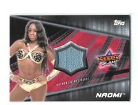 WWE Naomi 2016 Topps Divas Revolution Event Used Mat Relic Card SN 21 of 25