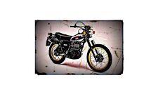 1979 xt500 Bike Motorcycle A4 Retro Metal Sign Aluminium