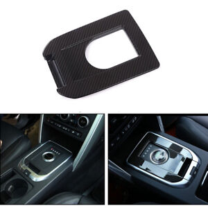 Carbon Style Center Gear Shift Knob Cover Trim For Land Rover Discovery Sport