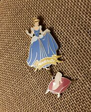 Cinderella Glass Slipper Dangle Quill Company Disney Pin #42343 Limited Edition