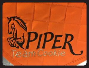 """PERSONALISED SaddleCloth """"Piper Design"""" Embroidered.FREE POSTAGE"""