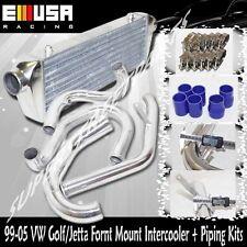 EMUSA FM Intercooler + Piping Kit fit 98-05 VW Golf Jetta GLS 1.8T L bolt on