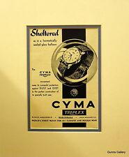 Vintage Advertisement mounted ready to frame Mens Watch Cyma Triplex 1948