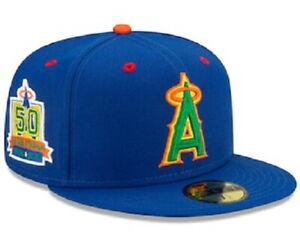 MLB Los Angeles Angels New Era 59FIFTY Fitted Hat Angel Stadium 50th Anniversary