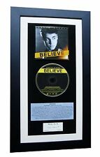 JUSTIN BIEBER Believe CLASSIC CD GALLERY QUALITY FRAMED+EXPRESS GLOBAL SHIPPING