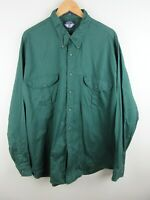 Dockers Mens Shirt Size 2XL Long Sleeve Button Up Regular Fit Green Adult