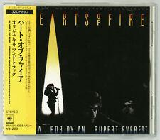 HEARTS OF FIRE Soundtrack CD JAPAN 32DP-890 OBI '87 Bob Dylan Fiona Winger s4898