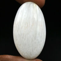 Cts. 36.35 Natural Chatoyant High Grade Scolecite Cabochon Oval Loose Gemstone