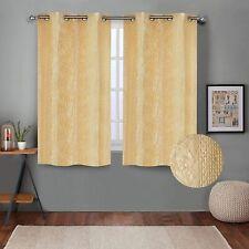 Embossed Self Design Curtains Window 5 feet- Pack of 2 Cream