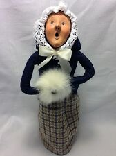 Byers Choice Ltd The Carolers 1989 Woman Caroler With White Fur Hand Muff Retire