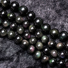 AAA Natural Rainbow Obsidian Gemstones Round Loose Beads 15''Strand 4mm-18mm