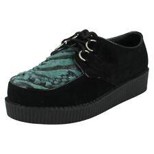 Zapatos de tacón de mujer plataformas de color principal azul de ante