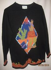The Quacker Factory Women's Sweater Pullover Sequins Southwest Size M