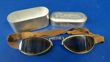 Italian Brevettato Flying Goggles With Case