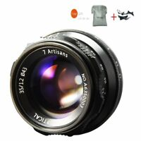 7artisans 35mm F1.2 Manual Lens For Fuji FX Mount X-A1 X-AT X-M1 XM2 X-Pro1 X-E1