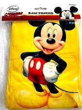 Disney Adult Yellow Mickey Mouse Standing Rain Poncho Keep Dry