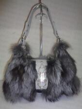 fox fur Women Leather Handbag Messenger Bag Satchel Purse Shoulder Bag Tote
