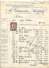 Alte Rechnung 1913 aus Salzburg, M.Gehmacher, Teppich-Vorhänge,  12/3/14