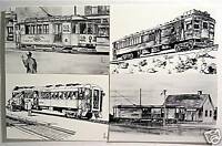 Gas Electric Railway Post Office Cars 4 Post Card Set