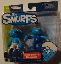 Smurfs Handy Smurf and clockwork smurf 2 pack figures new movie