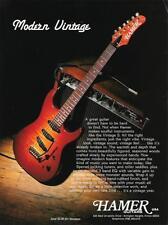 1992 MODERN VINTAGE HAMER GUITAR AD