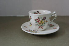 ROYAL DOULTON OLD LEEDS SPRAY # 6203 DEMITASSE CUP & SAUCER1912-1956