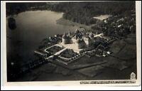 Moritzburg Sachsen DDR Postkarte ~1940 Fliegeraufnahme Luftbild Jagdschloß
