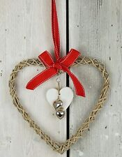 Coeur Décoration à suspendre en osier porte ou mur Mariage Décoration pour 25 cm