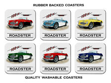 AUSTIN  HEALEY  100-6  100 - 6  ROADSTER    SET OF  6   RUBBER DRINK  COASTERS