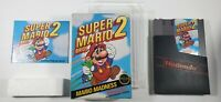 Super Mario Bros 2 Complete CIB NES NINTENDO Tested Working CLEANED INSIDE & OUT