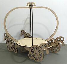 Y58 Cinderella CAKE Carriage LARGE Wedding Post Box MDF Table Display Stand