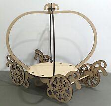 Y58 Princess WEDDING CAKE Carriage Cupcake LARGE MDF Table Display Stand