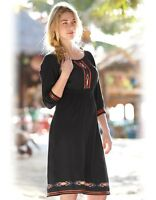 PD173 Bravissimo Embroidered Ribbon Detail Dress by Pepperberry in BLACK (24)