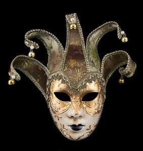 Masque de Venise Volto Jolly visage doré à 5 pointes Carnaval deguisement - 2179
