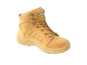JCB LOADALL Safety Work Boots Tan Honey (Sizes 2-13) Mens Work Shoes