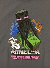 Minecon 2016 T-Shirt Shirt Men's Medium Exclusive Charcoal Gray NEW