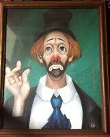 "Red Skelton ""Cigar Clown"" 1972 - Hand Signed and Framed"