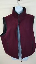Coaco Vest Womens Fleece NEW Reversible Maroon Black Silk XL Soft Coat Jacket