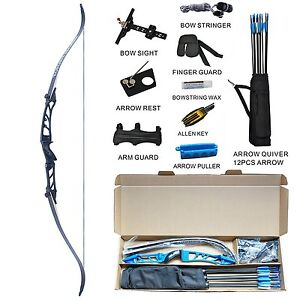 Topoint R2 Recurve Bow Set Archery Takedown R2 68 Inch Target&Hunting RH Package