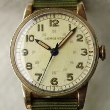 GOOD CONDITION men's WWII PERIOD military LONGINES wristwatch 1944