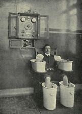 Vintage Medical Electrical Bath Photo Bizarre Odd Freaky Strange