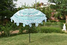 """80"""" Hippie Green  Star Ombre Patio Parasols Indian Mandala Garden Umbrella Decor"""
