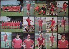 FUSSBALL 16 x BERGMANN 1969/1970 TORE-PUNKTE-MEISTERSCHAFT  1. FC KAISERSLAUTERN