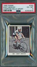1966 Panini Cycling #260 Eddy Merckx Rookie Card PSA 6 EX-MT (Pop 1 of 1)