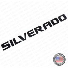 For Chevy Silverado Fender Tailgate Logo Nameplates Letter 3D Decal Emblem Black