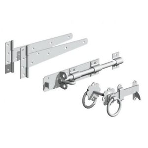Gatemate Side Gate Kit with Ring Gate Catch Pre-Packed (Various Finishes)