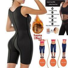 Women Neoprene Sauna Suit Sports Sweat Corset Jumpsuit Yoga Full Body Shapwear
