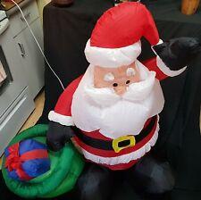 "Inflatable Santa Claus Outdoors Christmas Yard Decoration Illuminated 48"" Tall"