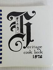 Heritage Cookbook 1976 First Congregational Church Western Springs Illinois