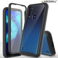 For Motorola Moto G8 Power Lite Case Full-Body Clear Back Shockproof Phone Cover